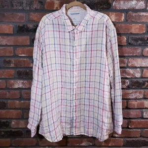Tommy Bahama Relax Plaid Linen Button-down Shirt